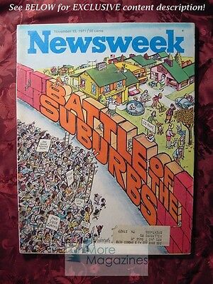 NEWSWEEK November 15 1971 Nov 71 11/15/71 SUBURBS CHILE ELECTIONS WOMEN ARTISTS