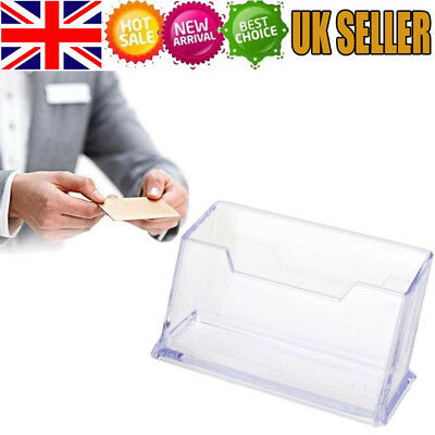 Business Card Holders Acrylic Display Stand Retail Counter Dispenser Office