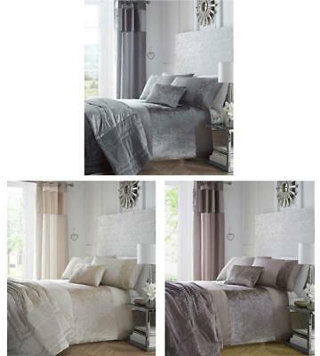 Crushed Velvet Premium Bedding Collection Charcoal Dark