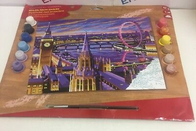 Painting by Numbers London Theme, 12 colours - NEW packaging creased