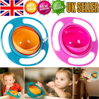 Plastic Baby's Non Spill Feeding Toddler Gyro Bowl Rotating Avoid Foods Spilling