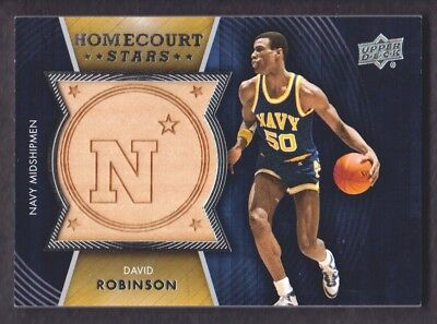 2014-15 Upper Deck Lettermen Home Court Stars #HS-DR David Robinson Navy