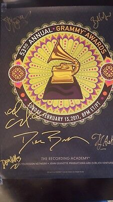 Dierks Bentley Cee lo Green signed Grammy poster