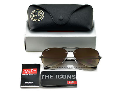753d115904 Ray-Ban RB3584N Blaze Aviator 004 13 Gunmetal Frame Brown Gradient Lenses  58mm