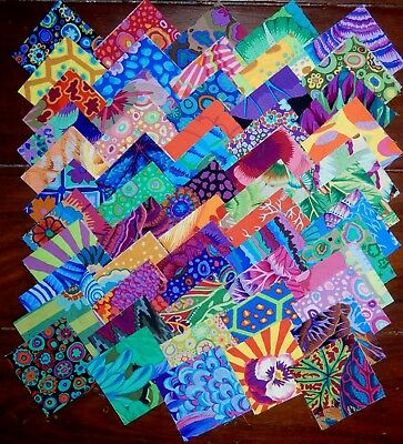 110 Kaffe Fassett Collective Prints cotton quilting fabric 2.5 inch squares #1k