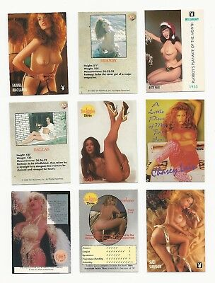 MIXED LOT (9) with Bettie Page~ Promo Pin Up Collector Cards pinup girls
