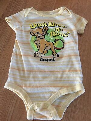LION KING Disney Store one piece applique ROMPER outfit Size 18 months Yellow