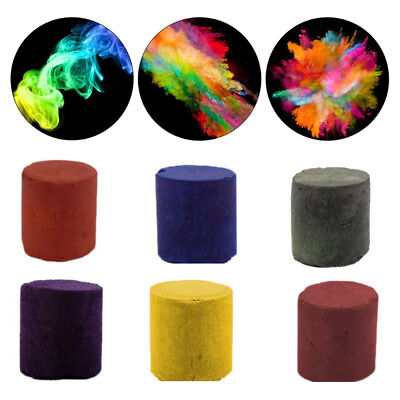 1Pc Colorful Smoke Cake Bomb Round Stage Effect Show Magic Photography Aid Tools