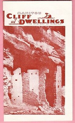 Tourist Souvenir Brochure Manitou Cliff Dwellings - Manitou Springs, Colorado