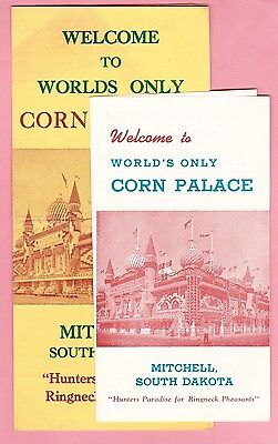 Lot of 2 Tourist Souvenir Brochures - Worlds Only Corn Palace  Mitchell, S D