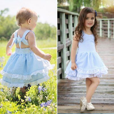 Toddler Baby Girls Princess Dress Lace Gown Party Wedding Pageant Tutu Dresses