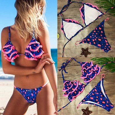 NEW Women's Bandage Bikini Set Push Up Padded Swimwear Triangle Swimsuit Bathing