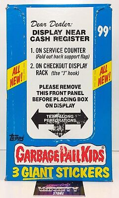 Garbage Pail Kids 2nd Series Giant Stickers 72-pack unopened box RARE