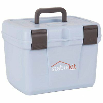 Stable Kit Tack And Unisex Horse Care Grooming Box - Pale Blue-grey One Size