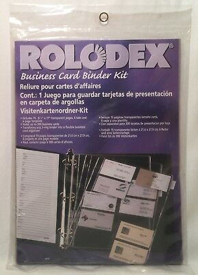 15 Pages Rolodex Business Card Refills for Standard 3 Ring Binders