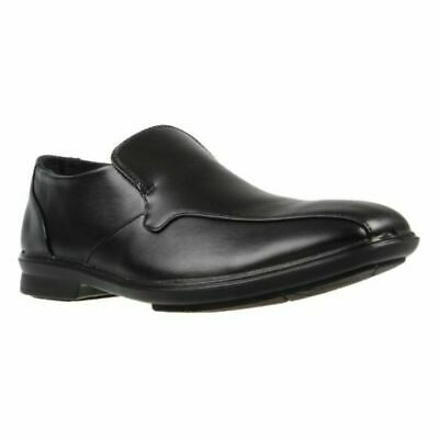 Mens Grosby OSCAR Black Dress Work Casual Formal Men Square Slip On Wide Shoes