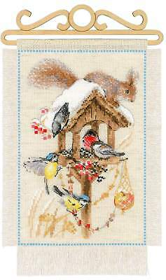 "Counted Cross Stitch Kit RIOLIS 1751 - ""Cottage Garden. Winter​"""