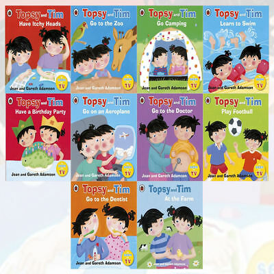 Topsy and Tim First Experiences 10 Books Collection Set by Jean Adamson PB NEW