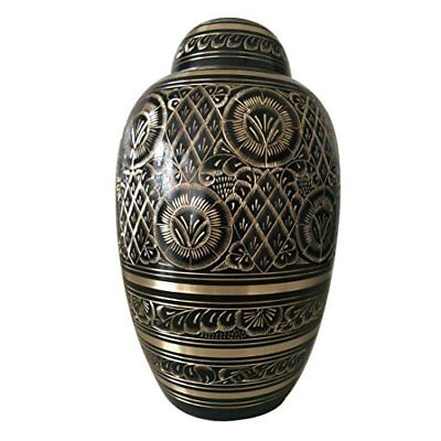 Adult Cremation Brass Urns Ashes UK - Dome Top Radiance Urn