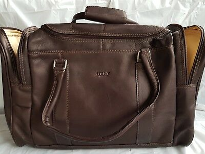 HUNT Fine Leather Chocolate Duffle Bag NEW