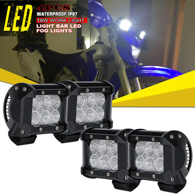 "4x 4""Led Work Light Pods Flood Offroad Lamp For ATV Arctic Cat 700 Diesel Suzuki"