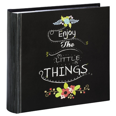 Large Chalk Design Slip In Memo Photo Album Book for 200 Photos 4' x 6' Slate