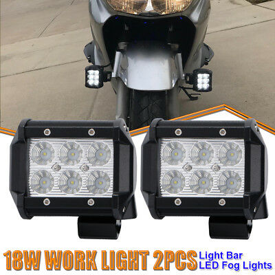 "2Pcs 4""Led Work Light Pods Flood Offroad Lamp Fits ATV Arctic Cat 1000 XT XR 550"