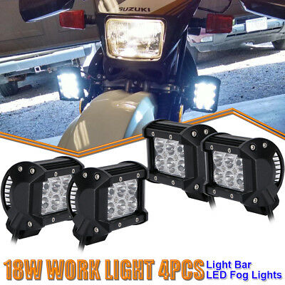 4x 4inch 18W Spot Led Work Lights Cube Pods Offroad For Yamaha Raptor 700 Can-Am