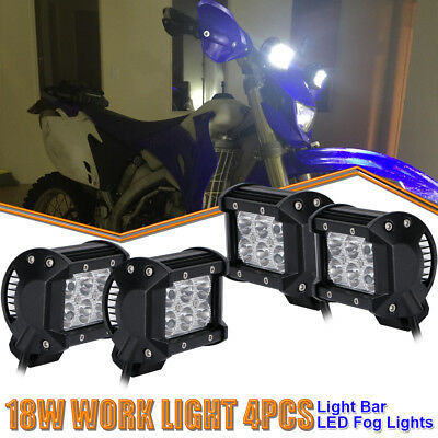 4x 4Inch Cube Pod Spot  LED Lights Off Road Work Light For Arctic Cat Kymco ATVs