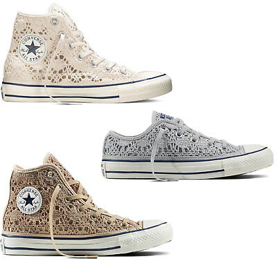e0b4d2c63dec Scarpe Converse All Star Chuck Taylor Crochet Alte Donna Pure Hi Shoes Ox