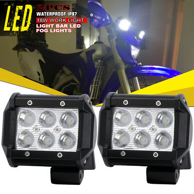"2x 4"" Cube Pod Spot LED Fog Light OffRoad Work Light Arctic Cat for Honda Recon"