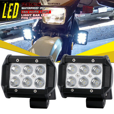 2x4inch 18W Spot Led Work Light Fog Cube Pods Offroad ATVs Yamaha Kodiak YFZ450R