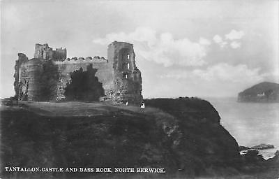 uk17679 tantallon castle and bass rock north berwick scotland real photo uk