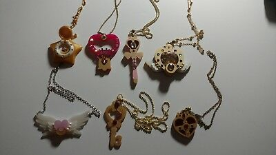 7cbb68e7869 Rare Lot 7 Kuma Crafts Sailor Moon Necklaces Star Locket Eternal Brooch