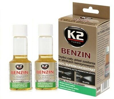 2 x  K2 Benzin Petrol Treatment / Injector Cleaner Re-generator Cleaner 50ml
