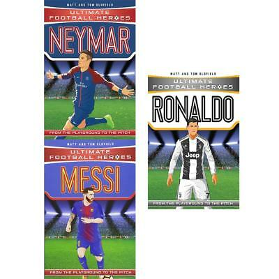Michael Part Ultimate Football Heroes Collection 3 Books Messi Neymar  Ronaldo