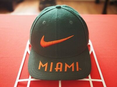 best loved d58c3 58b15 ... clearance vintage nike swoosh miami hurricanes hat 6badc 3d8d2