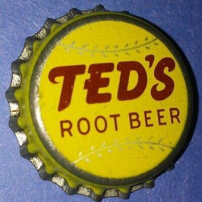 """Ted Williams Baseball Legend """"ted's Root Beer"""" Vintage Bottle Cap Rare C"""