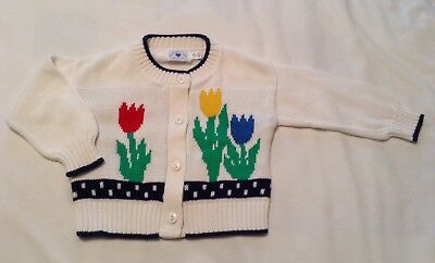 Hartstrings Adorable Tulip Sweater Made In The USA Size 2T