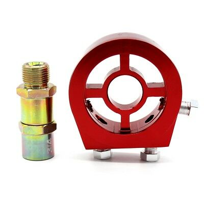 Vehicle Modified Oil Cooler Adapter Fits Oil  Filter Engine Oil Cooling Red