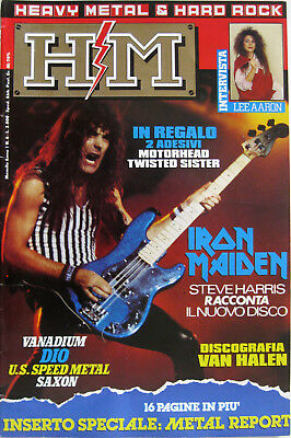 HM 6 1986 Steve Harris Iron Maiden Lee Aaron Vanadium Ozzy Osbourne Tommy Lee