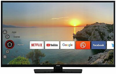 Hitachi 50 Inch Full HD 1080p Freeview Play Smart WiFi LED TV - Black
