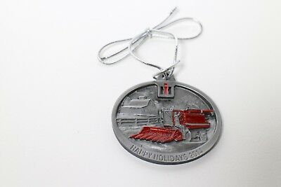 2014 Limited Edition Case IH  1460 Axial Flow Combine Pewter Christmas Ornament