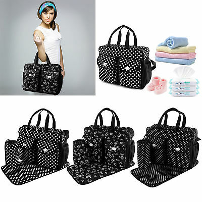 3pcs/set Larger Mummy Bag Baby Diaper Bag Mommy Nappy Changing Handbag Tote