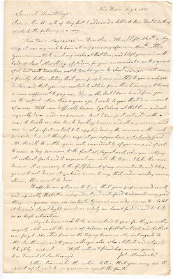 1833 New Haven Connecticut Letter - Dr James Murdoch to Samuel Merrill