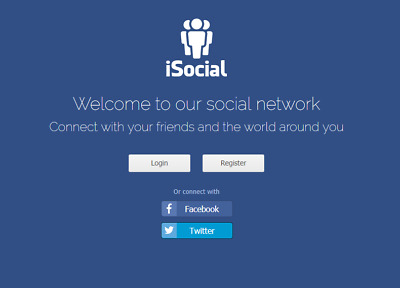 iSocial - Your own Social Network website