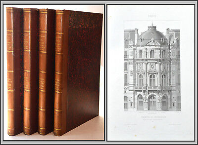 PARIS MONUMENTS - Narjoux -ARCHITECTURE - Bâtiments publics XIXe 4 vol. In Folio