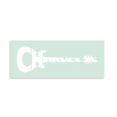 Charvel® 1979 VHII-style Waterslide Headstock Decal WHITE   Bumblebee
