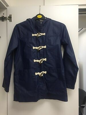 Next Boys Warm  Rain Coat Dark/Navy Blue 11 Years -
