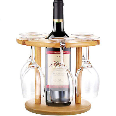 Tabletop Freestanding Wine Glass Stemware Metal Rack 2 Wine Bottles